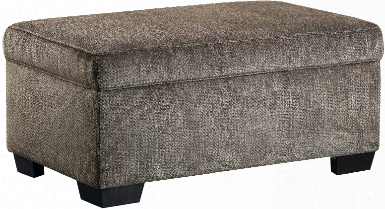 """1657-095 Harlow Ash 42"""" Storage Ottoman With Tapered Legs Hardwood Lumber Frame And Plush Chenille Solid Fabric"""