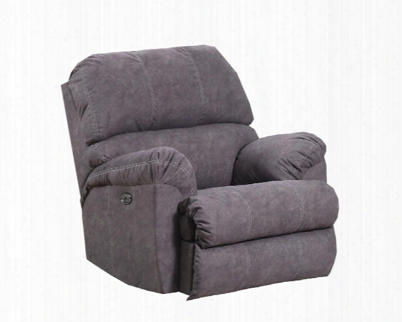 "9511-19 Ppalermo Mocha 41"" Rocker Recliner With Double Needle Stitching Pillow Top Seating Split Back Cushions Hardwood Lumber Frame And Soft Suede Fabric"