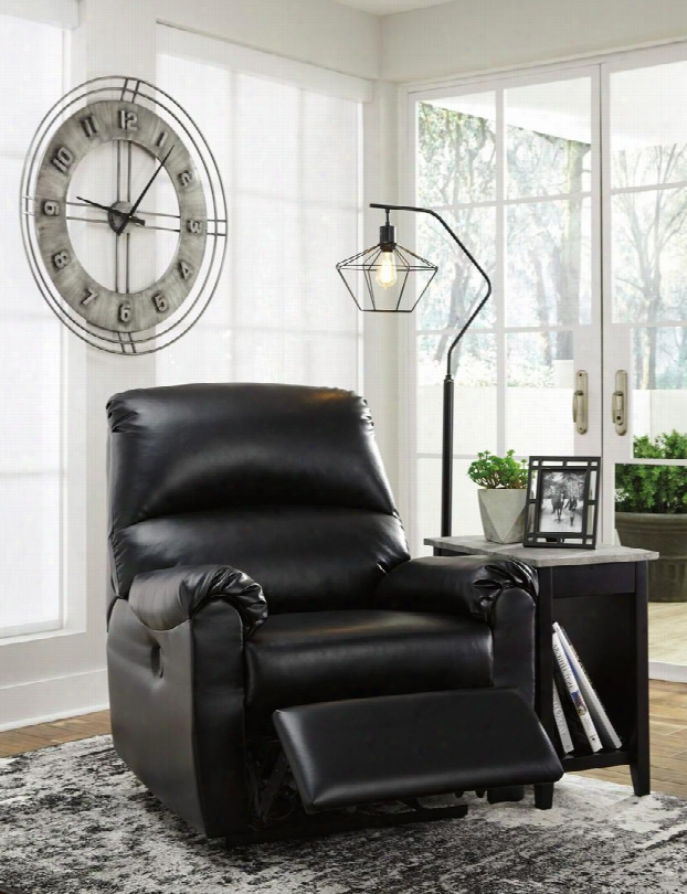 "Crozier Collection  7630506 35"" Power Recliner With Pillow Top Armrests Metal Drop-in Seat Box Plush Cushion Back And Faux Leather Upholstery In"