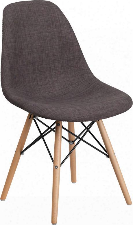 Fh-130-dcv1-fc100-gg Elon Series Siena Gray Fabric Chair With Wood