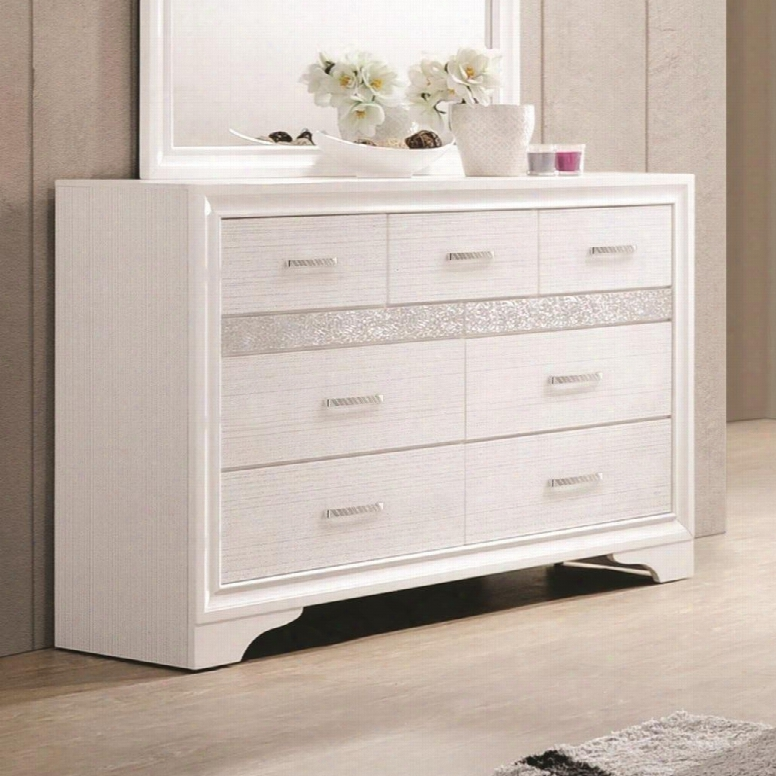 """Miranda Collection 205113 63"""" Dresser With 7 Drawers 2 Hidden Jewelry Trays And Rhinestone Hardware In"""