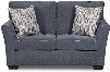 """7058-02 PACIFIC STEEL 64"""" Loveseat with Contrast Toss Pillows High-Density Foam Seat Cushion Sinuous Wire Springs Hardwood Lumber Frame and Low Pile"""