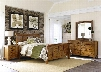 Grandpa's Cabin Collection 175-BR-KSLDMN 4-Piece Bedroom Set with King Sleigh Bed Dresser Mirror and Night Stand in Aged Oak