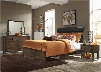 Hudson Square Collection 365-BR-KUBDMN 4-Piece Bedroom Set with King Upholstered Bed Dresser Mirror and Night Stand in Espresso