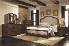 Laughton Collection 203261KESET 5 PC Bedroom Set with King Size Bed + Dresser + Mirror + Chest + Nightstand in Rustic Brown