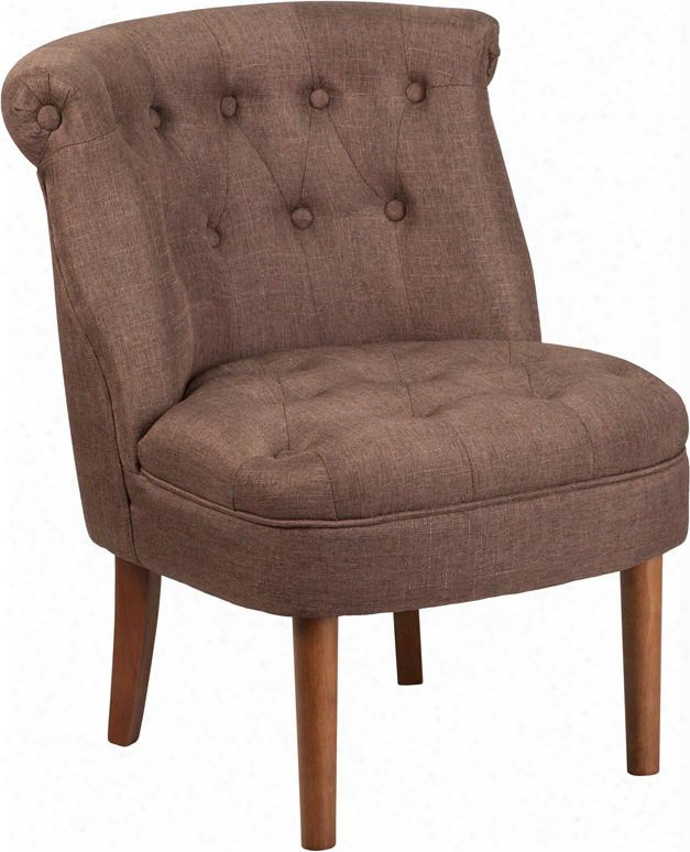 Qy-a01-bn-gg Hercules Kenley Series Brown Fabric Tufted