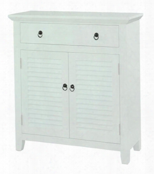 """14a2004 31"""" Shutter Console With Wide Drawer Two Shutter Doorss And Tapered Legs In"""