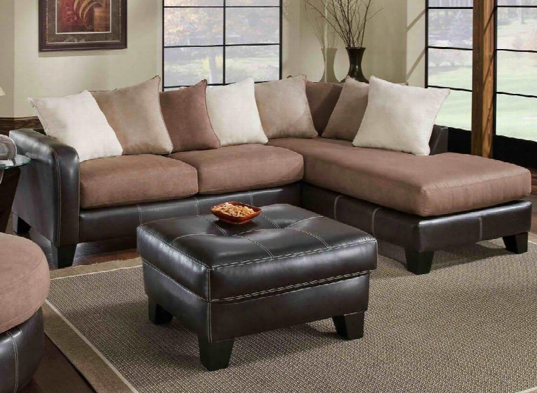 75e3606167smco Burke Two Piece Sectional With Sofa + Chaise Ottoman Toss Pillows 1.5 Dacron Wrapped Foam Core Reversible Cushions Hardwood/plywood Frame