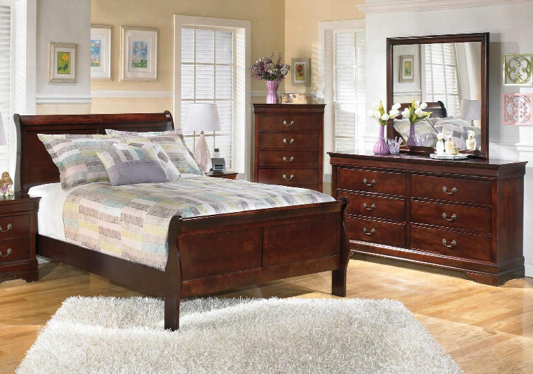 Alisdair Full Bedroom Set With Sleigh Bed Dresser Mirror And Chest In Dark