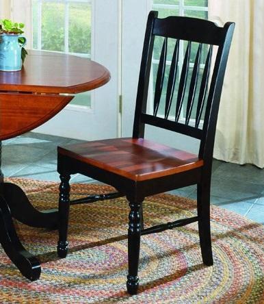 Briob267k British Isles Slatback Side Chair Oak-black