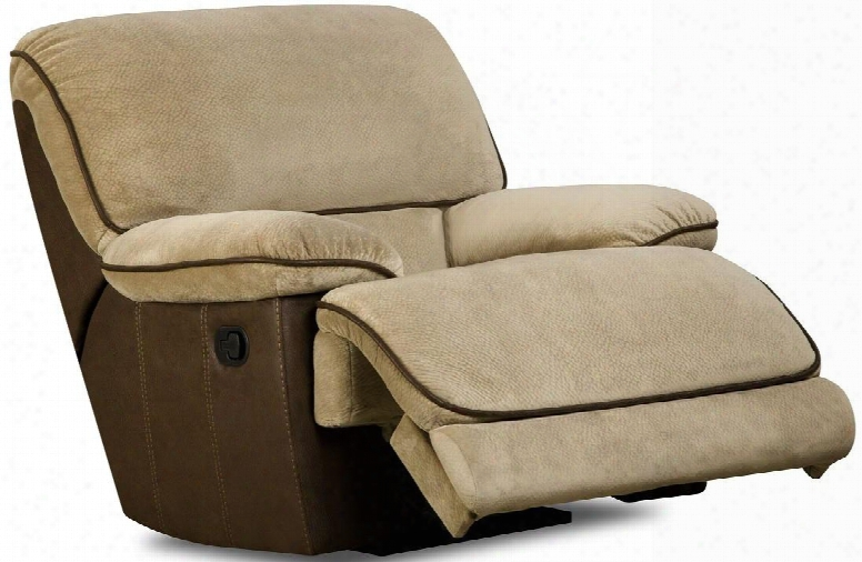 "Dogwood Collection 52780-10 42"" Rocker Recliner With Fabric Upholstery Plush Padded Arms And Contemporary Style In Lying Eyes"