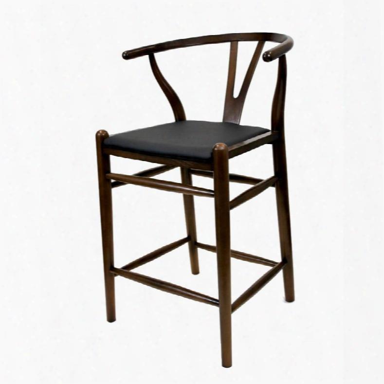 "Fmi10031-walnut Woodstring 25"" Counter Chair"