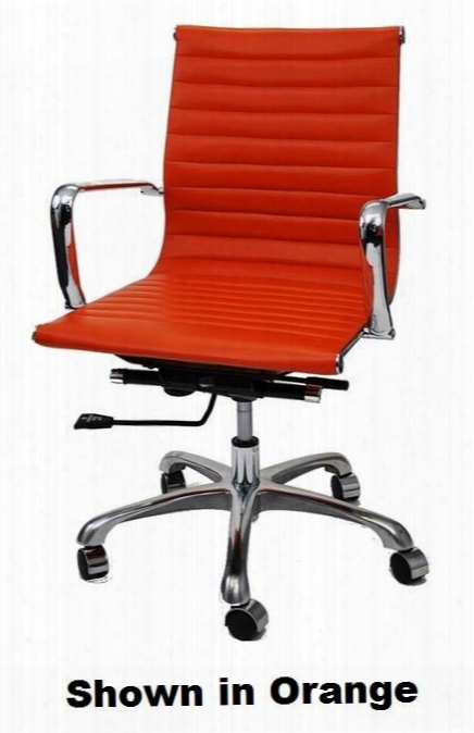 Fmi1160-red Fine Mod Imports Modern Conference Office Chair Mid Back