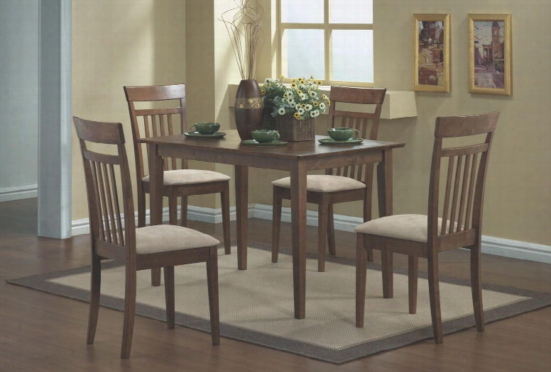 I 1720 Dining Set - 5pcs Set / Walnut