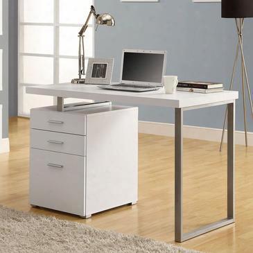 """I 7027 Computer Desk - 48""""l / White Left Or Right"""