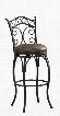 "111129 30"" Solana Series Bar Height Stool with Graphite Metal Frame and Bonded Leather Cushion in"