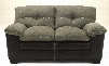 4320135 Hodgson Two-Tone Loveseat with Pillow Top Arms Faux Leather Outer Covers and Tufted Back Cushions in