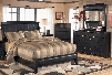 Harmony 4-Piece Bedroom Set with King Size Sleigh Bed Dresser Mirror and Chest in Dark