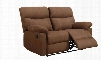 U1726-MOCHA-R/L Reclining Loveseat with Microfiber in Rider