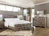 Zelen King Bedroom Set with Poster Bed Dresser Mirror and Chest in Warm
