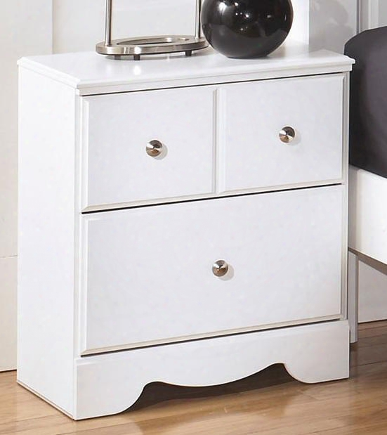 "Weeki Collection B270-92 24"" Night Stand With Two Drawers Satin Nickel Knbs And Side Roller Glides In"