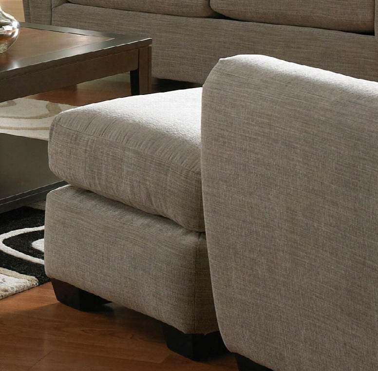 330810 Abby Collection Ottoman In Stone