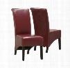 "I 1778BY Dining Chair - 2pcs / 40""H / Burgundy"