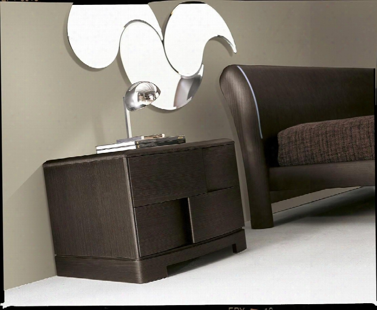 Vgsmtrendy-ns-tbo Trendy Collection Contemporary Wooden Nightstand: Tobacco