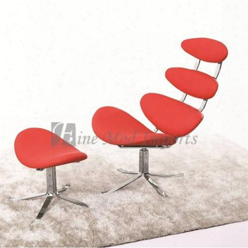 Fmi1146-red Crono Chair And Ottoman