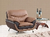U2106-C Two-Toned Bonded Leather Chair Bonded Leather Upholstery Metal Arms/Legs in