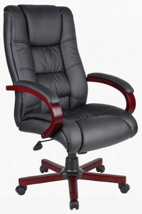 "Aaria Collection Aeld72m-bk 18.5"" - 22"" Adjustable Seat Height Eldorado High Back Executive Office Chair:"