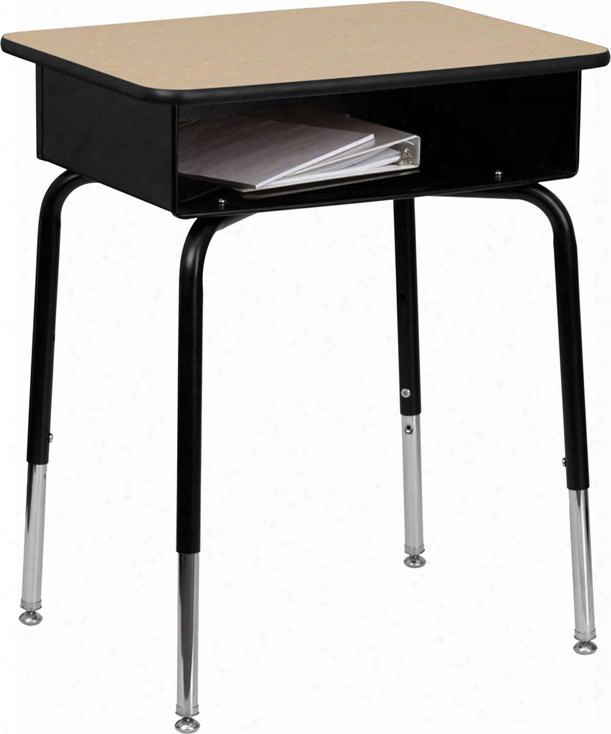 Fd-desk-gg Student Desk With Open Front Metal Book