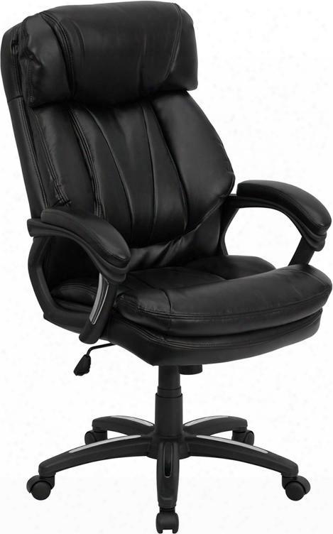 Go-1097-bk--lea-gg High Back Black Leather Executive Office