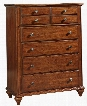 """Hayden Place 4648-240 40"""" Wide 5-Drawer Chest with Felt Lined Top Drawer Turned Feet and Lacquer-Coated Hardware in Light"""
