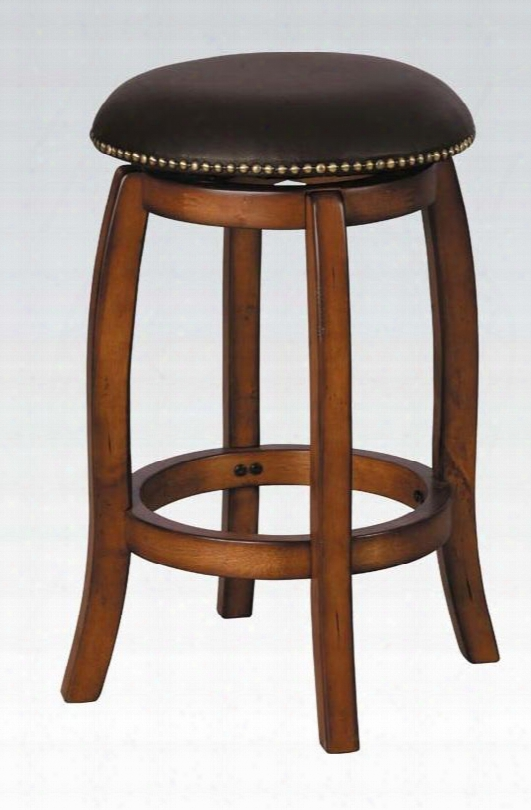 07247 Chelsea Counter H. Stool W/swivel Black Leather & Vintage