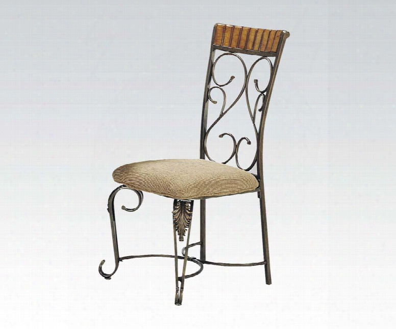 07721 Metal Craft Dining Chairs With Scro Llwork(set Of