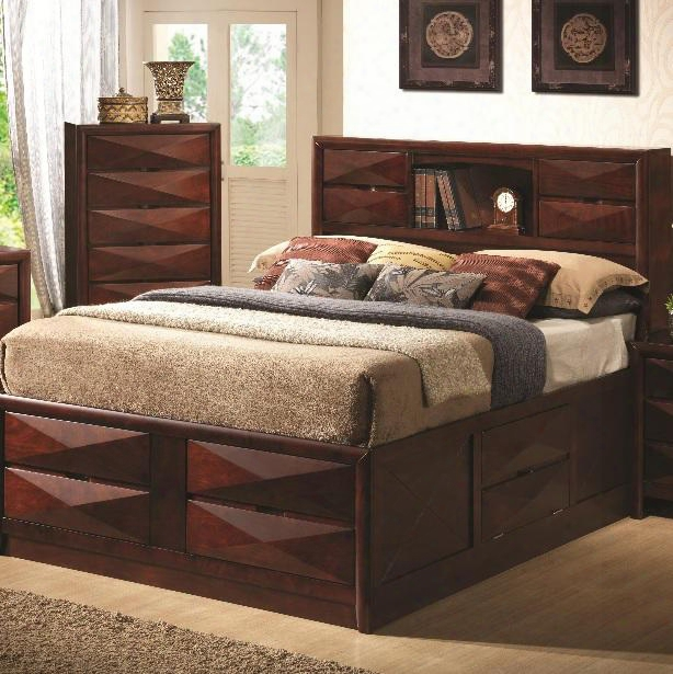 202711ke Bree King Transitional Storage Bed With Eight