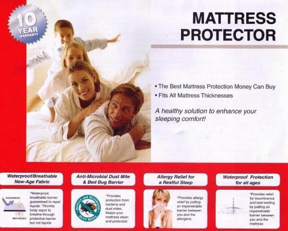 2250k King Size Mattress Protector (set Of