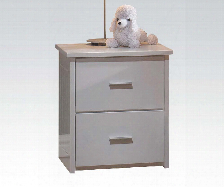 """Bungalow Collection 30039 17"""" Nightstand With 2 Drawers Side Metal Drawer Glide Medium-density Fiberboard (mdf) Rubberwood And Pu Laminated Wood"""