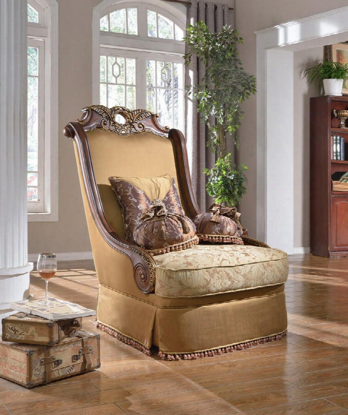 "Loretto 623c 45"" Chair With Accent Pillows Included Solid Wood Hand Crafted Designs And Removable Backs In"