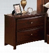 07403 Manhattan Nightstand with 2 Storage Drawers Bruchsed Nickel Hardware Selected Hardwoods and Wood Veneers in Espresso