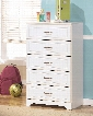"Lulu Collection B102-46 29"" 5-Drawer Chest with Grooved Panels Embossed Framing Drawers and Side Roller Glides in"