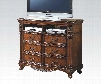 Remington Collection 20277 TV Console in Brown Cherry