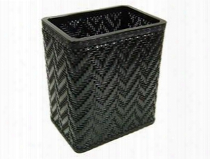 S423bk Elegante Collection Decorator Color Wicker Wastebasket In