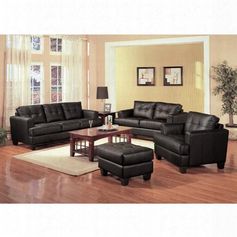 501681set3 Samuel 3 Pcs Living Room Set(sofa Loveseat And