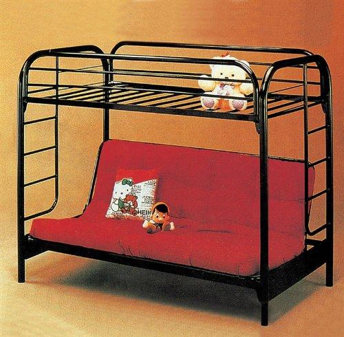 8986r Twin Over Full Metal Convertible Futon Bunk Bed In