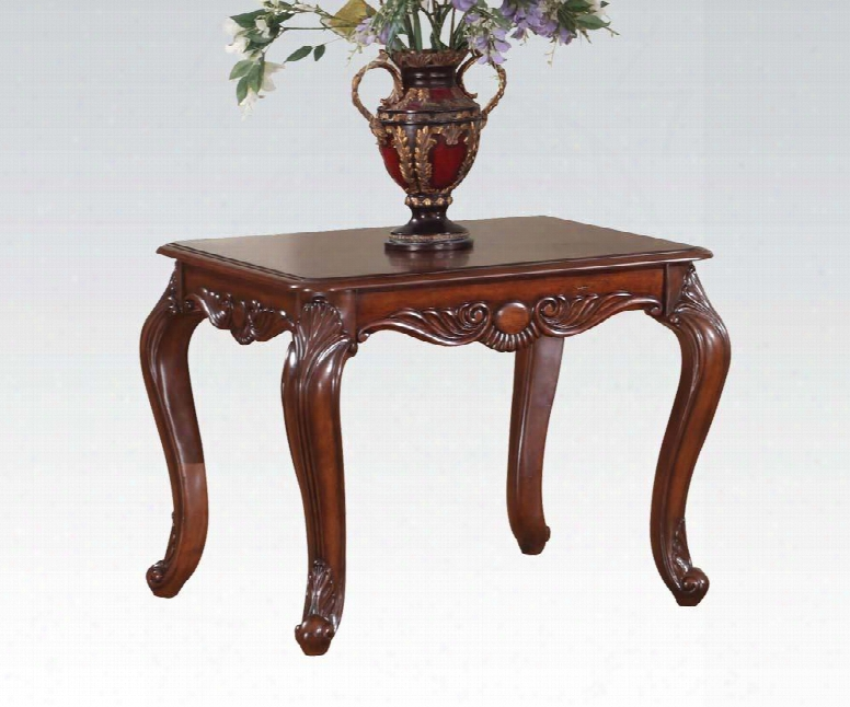 "Birmingham Collection 10241 26"" End Table In Brown Cherry"