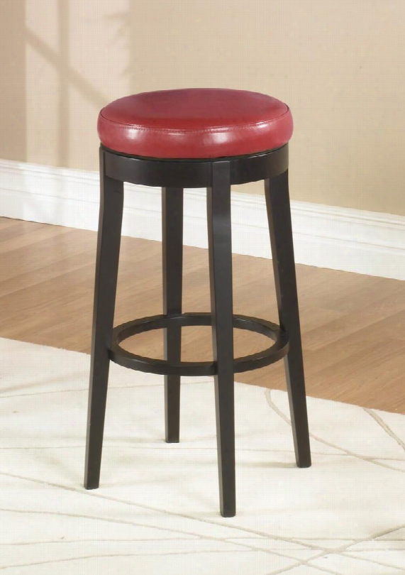 Lc450bare26 Mbs-450 26 Backless Swivel Barstool In Red Bonded