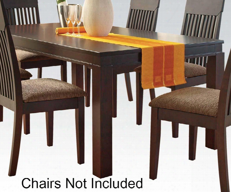 "Medora Collection 00854 36"" Dining Table With Large Block Legs Square Top Rubberwood Veneers Construction In Espresso"