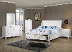 400239TSET6 Sandy Beach 6 Pc Twin Bedroom Set in White Finish (Bed 2x Nightstand Dresser Mirror and